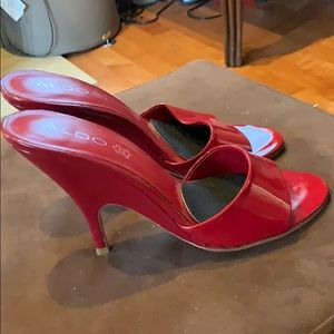 Aldo Shoes - Beautiful red heels size 39.  Aldo